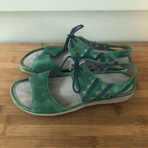 NAOT TEAL MANGERE LEATHER SANDALS SZ 40 9-9.5